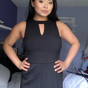 LOFT Petite Black Office Dress (Knee Cut) 6P